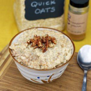cinnamon oatmeal microwave